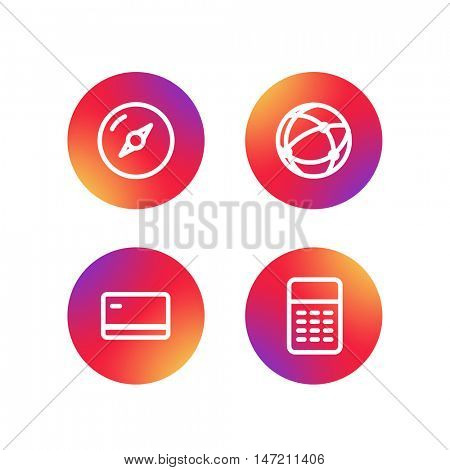 Different simple web pictograms collection. Lineart design application icons