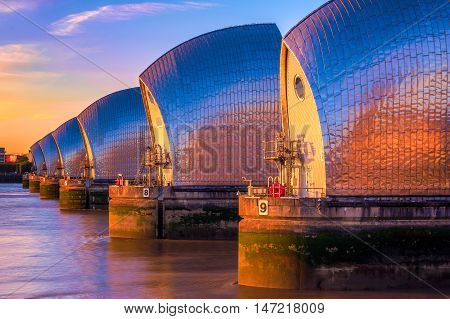 Thames Barrier In London