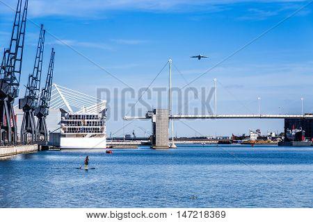 Royal Victoria Dock Bridge In East London