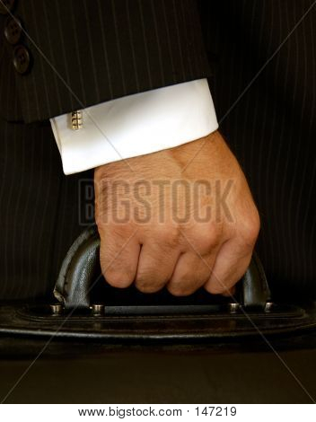 Businessman Holding Case