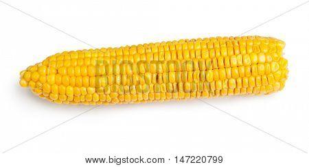 Corn cob isolated on white background