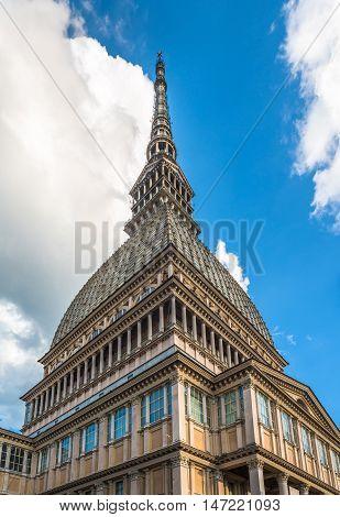 Mole Antonelliana Tower, The Symbol Of Turin, Italy