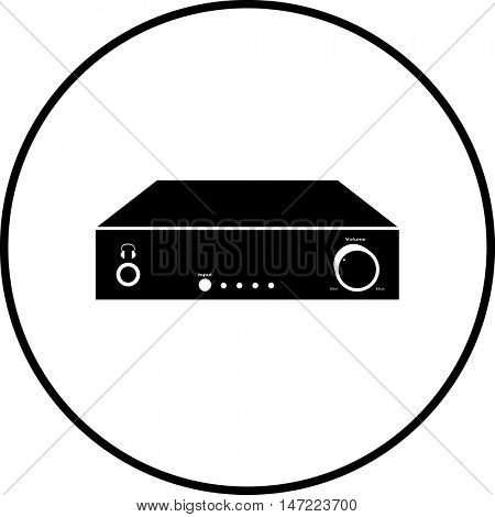 desktop amplifier symbol