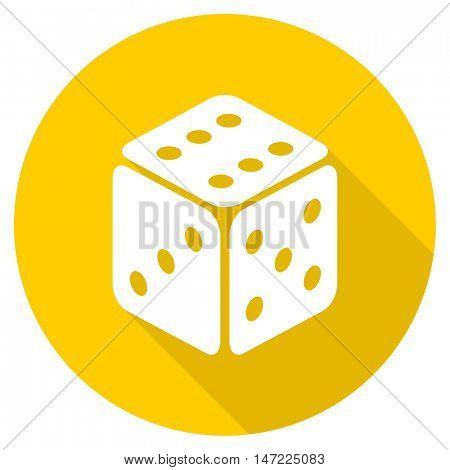 game flat design yellow round web icon
