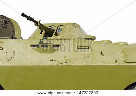 Russian patrol vehicle BRDM-2 on a white background