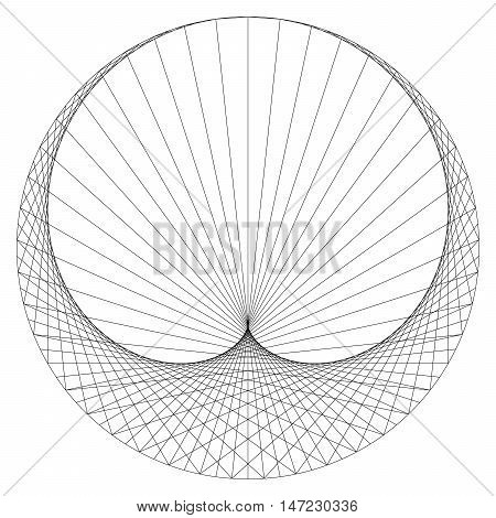 Cardioid - sinusoidal spiral - mathematical plane curve.