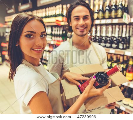 People Working In The Supermarket
