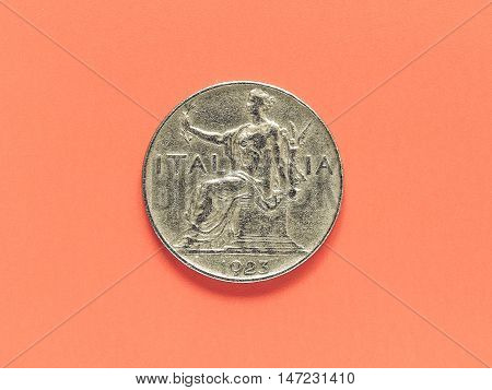 Vintage Ancient Italian Coin