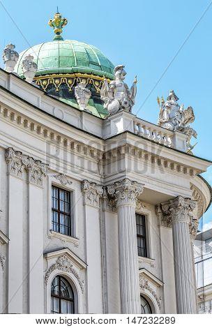Detail Of Michaelertrakt Palace, Hofburg In Vienna, Austria.
