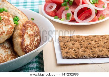 Russian Homemade Food Closeup