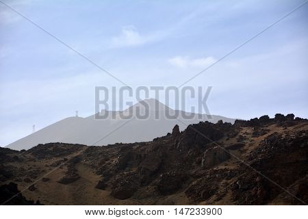 Mountain Teide National Park in Tenerife. Canary Islands. Spain.