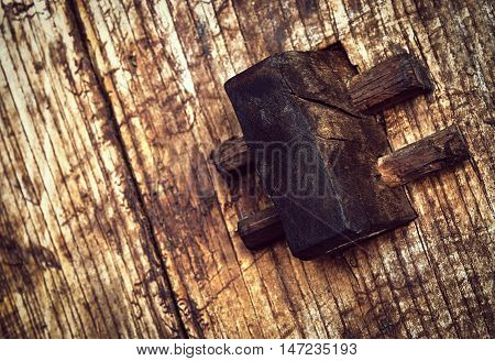 background traditional connection to the old wooden beams