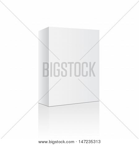 Box white empty blank isolated. Package template. Vector illustration eps 10