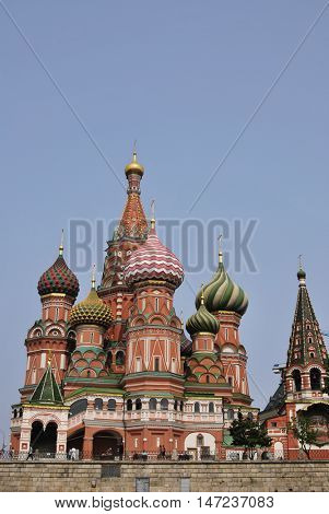 Moscow red square st Vasily cathedral temple