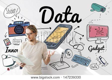 Data Information Statistics Technology Analysis Concept