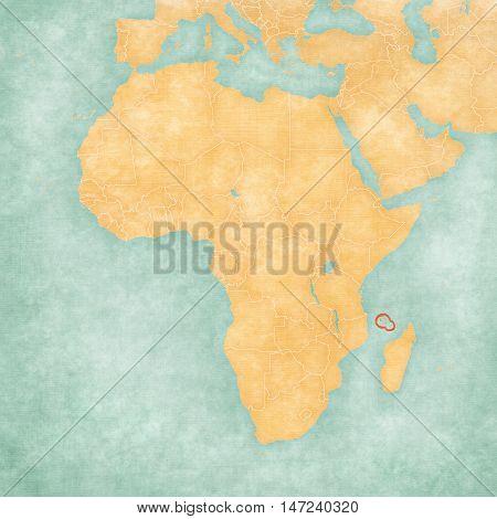 Map Of Africa - Comoros