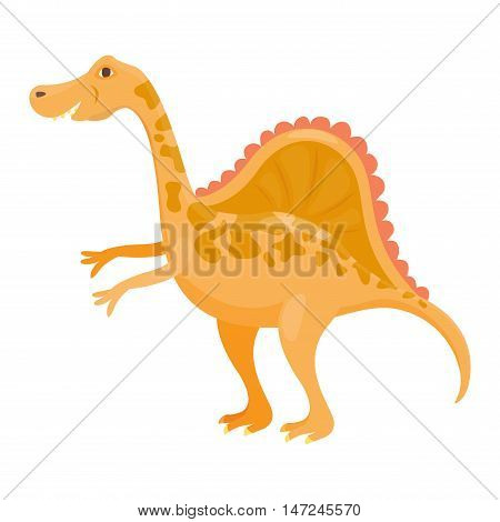 Dinosaur triceratops cartoon vector illustration. Cartoon dinosaurs cute monster funny animal and prehistoric character triceratops cartoon dinosaur. Cartoon comic fantasy triceratops dinosaur reptile