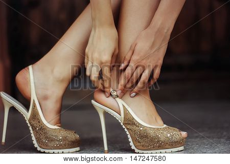 Beige Female Shoes