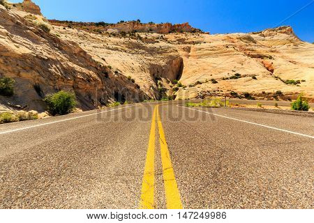The One Million-dollar Road From Boulder To Escalante, Usa.