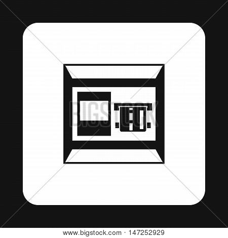 ATM bank cash machine icon in simple style on a white background vector illustration