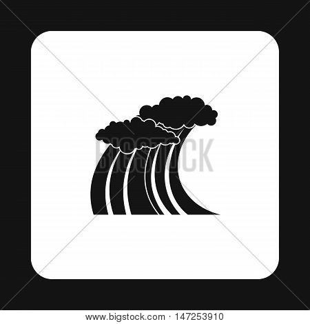 Wave icon in simple style on a white background vector illustration