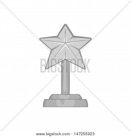 Award star icon in black monochrome style isolated on white background. Rewarding symbol vector illustration