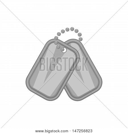 Army badge icon in black monochrome style isolated on white background. Personality symbol vector illustration