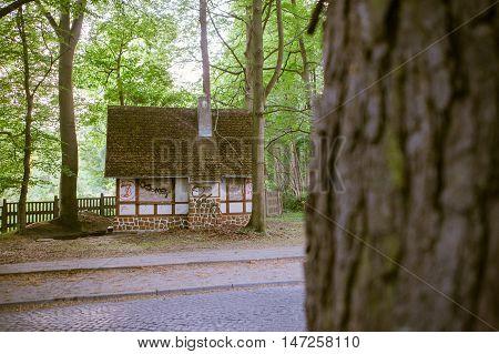Wooden Restroom Or Toilet Building