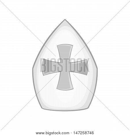 Combat shield icon in black monochrome style isolated on white background. War symbol vector illustration