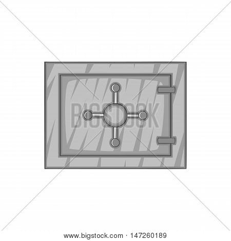 Safety deposit box icon in black monochrome style isolated on white background. Security symbol vector illustration