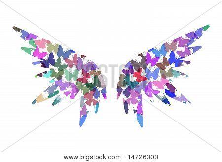 Angel butterfly wings