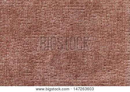 Brown background from a soft textile material. sheathing fabric with natural texture. Cloth backdrop.