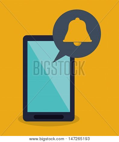 modern cellphone and notification icon vector illustration design