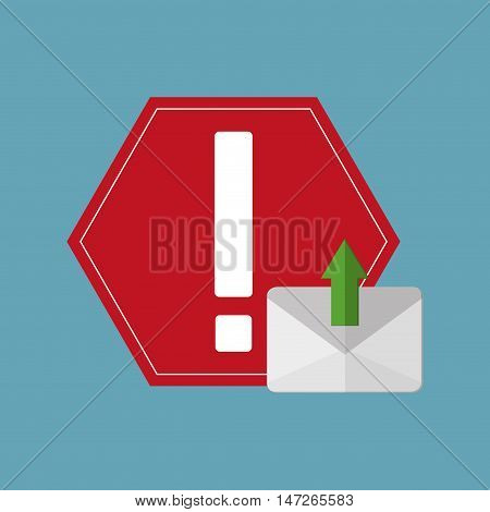 gadget message  notification icon vector illustration design
