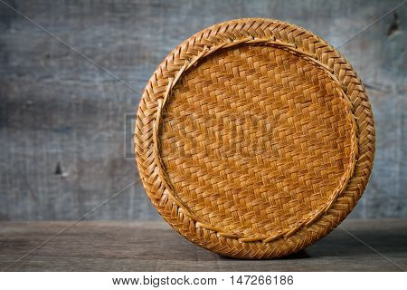 bamboo container for holding cooked glutinous rice