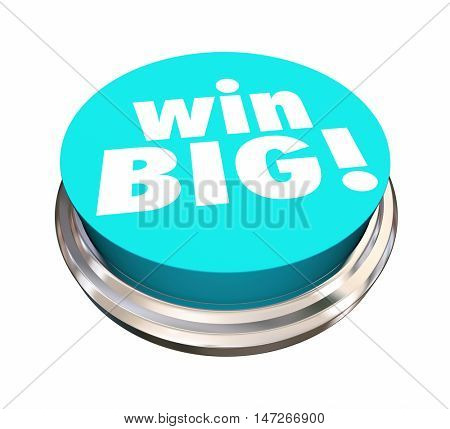 Win Big Button Jackpot Lottery Contest 3d Illustration
