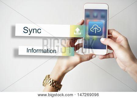 Sync Data Backup Storage Transfer Concept