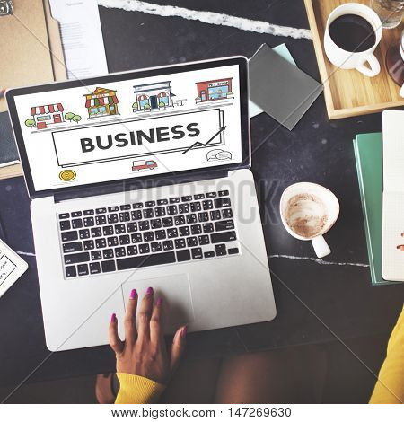 Small Business Strategy Marketing Enterprise Concept