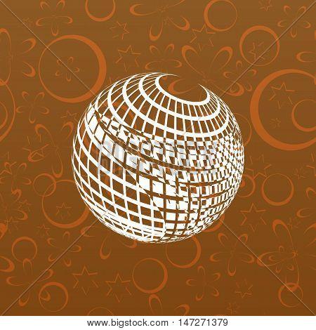 Wire-frame Design Element. Sphere
