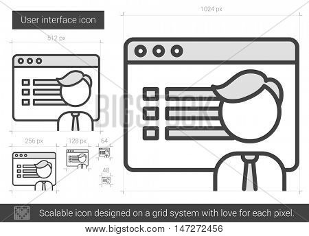 User interface vector line icon isolated on white background. User interface line icon for infographic, website or app. Scalable icon designed on a grid system.