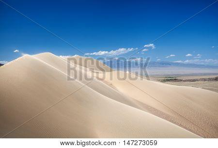Sand Dunes In The Desert