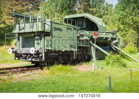 Tm-1-180 Railway Gun. Soviet Monument