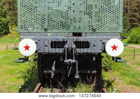 Railway Gun Details, Front View