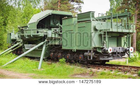 Tm-1-180 Railway Gun. Soviet Military Monument