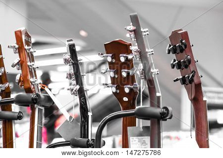 Guitars. Guitar music instruments. Classic guitar. Classic instruments music