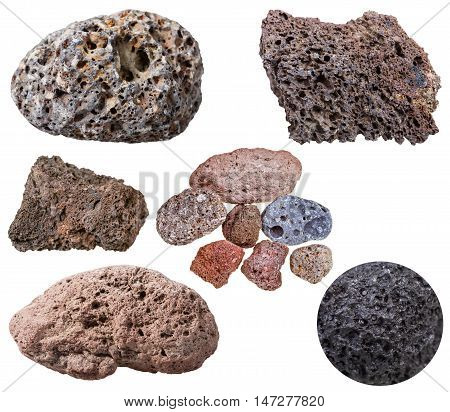Collection From Specimens Of Various Pumice Stones