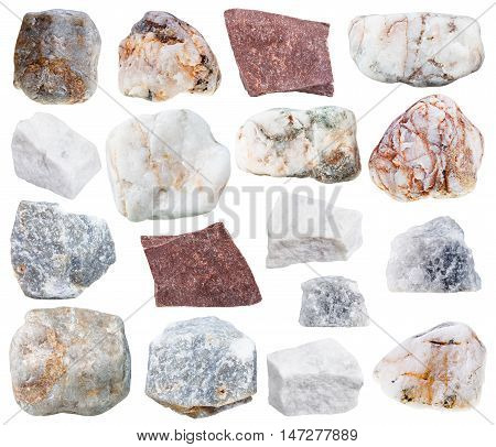 Collection From Specimens Of Marble Stone