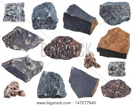 Collection From Specimens Of Basalt Rock