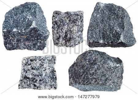 Collection From Specimens Of Gabbro Rock