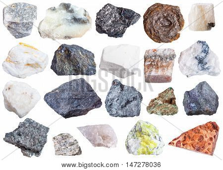 Collection Of Natural Mineral Specimens